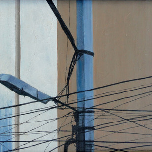 Wires by Kiran Kumari B, Realism Painting, Oil on Canvas, Brown color