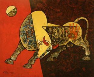 Celebration 13 by Dinkar Jadhav, , , Brown color
