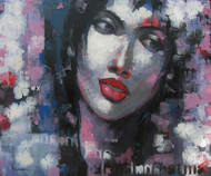 Expression Series by Anindya Mukherjee, Impressionism Painting, Acrylic on Canvas, Gray color