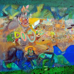 Urban emotion  acrylic on canvas 60 x 60 inch