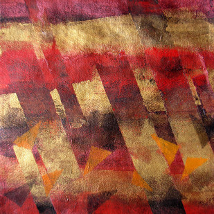 Element 14 by Vedanti S Kolhe, Abstract Painting, Acrylic on Paper, Brown color