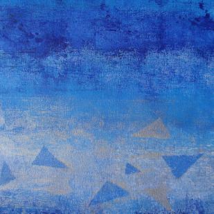 Element 05 by Vedanti S Kolhe, Abstract Painting, Acrylic on Canvas, Blue color
