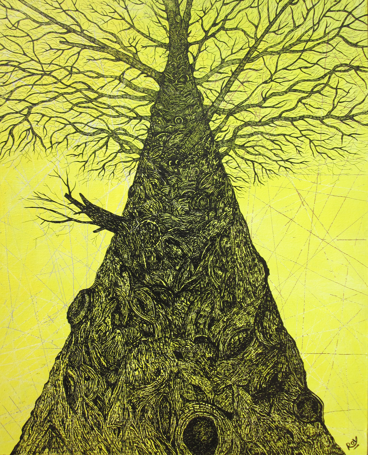 Tree of Life (1) Digital Print by Priyabrata Roy Chowdhury,Illustration