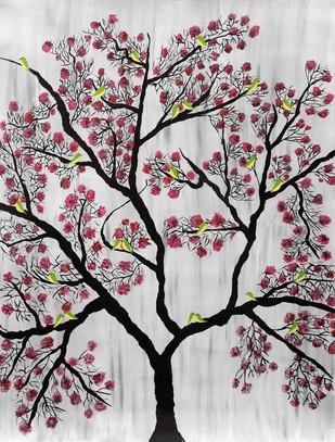 Cherry Blossom - Painting by Sumit Mehndiratta