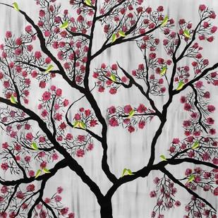 Cherry Blossom Digital Print by Sumit Mehndiratta,Decorative