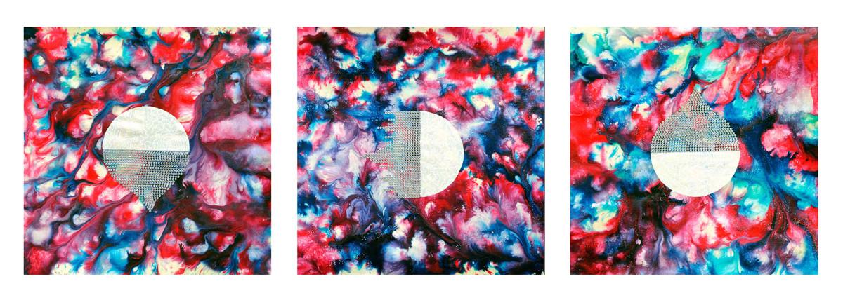 Silkworm by Sumit Mehndiratta, Abstract Painting, Mixed Media on Canvas,