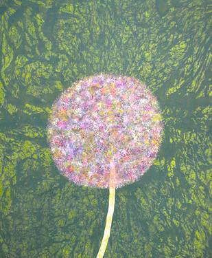 Lavender Allium - Painting by Sumit Mehndiratta