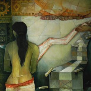 Droupadi Digital Print by Arun Kumar Samadder,Conceptual
