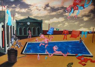 In the Land of De Chirico II Artwork By Arpan Ghosh