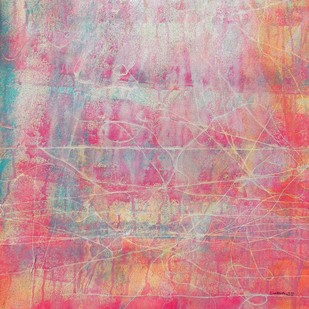 abstract 13 by Santhosh CH, Abstract Painting, Acrylic on Canvas, Pink color