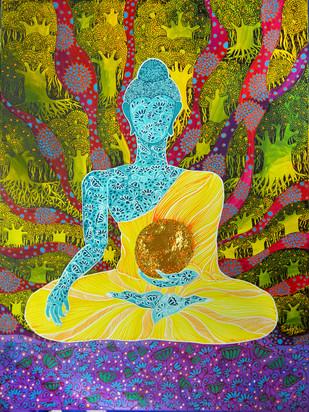 Buddha and the Universe Print By Pragati Sharma Mohanty