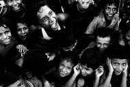 Children of Heaven by Subhajit Dutta, Image Photography, Digital Print on Canvas, Gray color