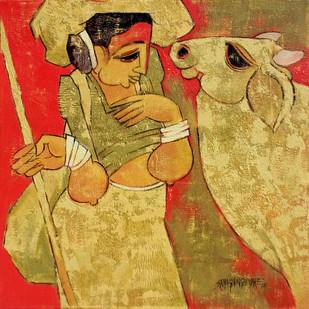 Kamadhenu by Sarang Waghmare, , , Brown color