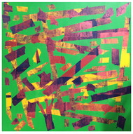Inattentive Mind I by Srinivasan Natarajan, Abstract, Minimalism Painting, Acrylic on Canvas, Green color