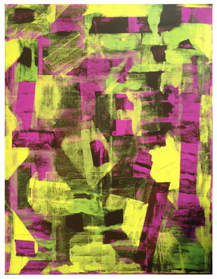 Inattentive Mind II by Srinivasan Natarajan, Abstract Painting, Acrylic on Canvas, Beige color