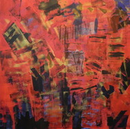 Inattentive Mind III by Srinivasan Natarajan, Abstract Painting, Acrylic on Canvas, Brown color