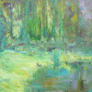Water and Land Digital Print by Animesh Roy,Impressionism