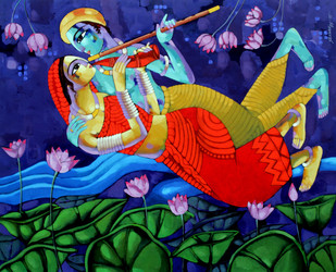 Music 2 - Painting by Sekhar Roy