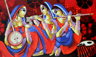 Music 1 - Painting by Sekhar Roy