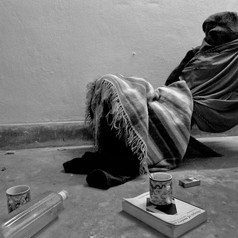 Modern Times by Pallavi Das, Conceptual Photography, Digital Print on Paper, Gray color