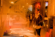 Inside from Outside by Asis Kumar Sanyal, Impressionism Photography, Digital Print on Paper, Orange color