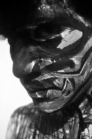 The Face 4 by Debabrata Sarkar, Image Photography, Digital Print on Paper, Gray color