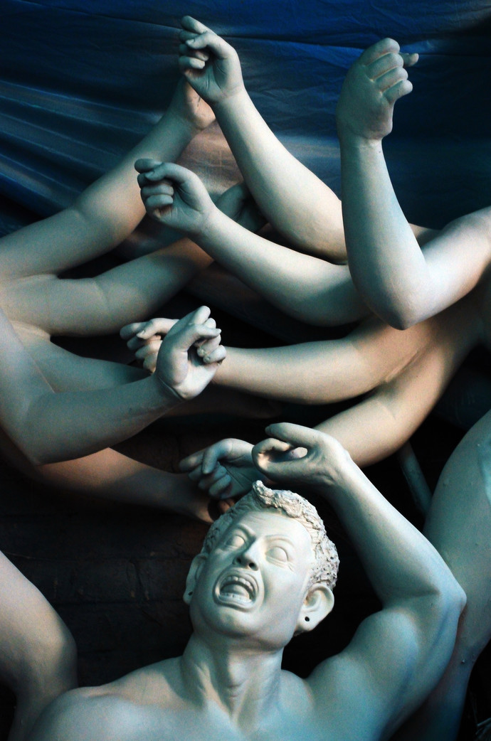 Kumartuli 1 by Subhajit Dutta, Photography, Digital Print on Paper, Green color