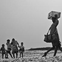 Migration by Asis Kumar Sanyal, Image Photography, Digital Print on Paper, Gray color
