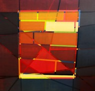 Azaan 1 by Rafique Shah, Geometrical Painting, Oil on Canvas, Brown color