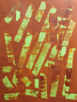 Trance by Srinivasan Natarajan, Abstract Painting, Acrylic on Canvas, Brown color