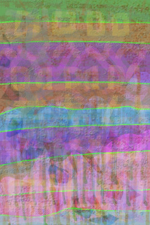 Absent dots and Present lines-I by Srinivasan Natarajan, Abstract Digital Art, Digital Print on Paper, Purple color