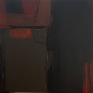 Whose Brown Burns in Me 64 by Anil Gaikwad, Abstract Painting, Acrylic on Canvas, Gray color