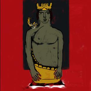 Shikasht-The Defeat-II - Painting by Vijendra S Vij