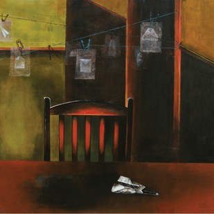 Memories by Isha Bawiskar, Conceptual Painting, Acrylic on Canvas, Brown color