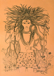 Shiva: The Eternal Yogi - Drawing by Pragati Sharma Mohanty
