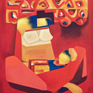 Painting affection artist dipak asole size30x36in