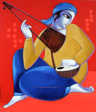 Baul - Painting by Sekhar Roy