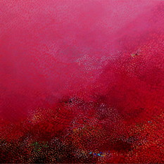 Swapna Dharaa 4 by Durgesh Birthare, Abstract Painting, Acrylic on Canvas, Pink color