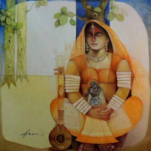 Meera 36x36inch oil on canvas rs 1005000