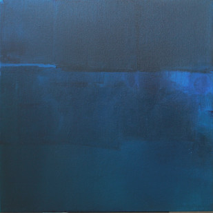 Untitled by Deepak Madhukar Sonar, Abstract Painting, Acrylic on Canvas, Blue color
