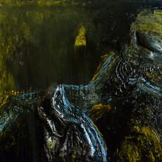 Do Good Anyway by Throngkiuba Yim, Conceptual Painting, Mixed Media on Canvas, Green color