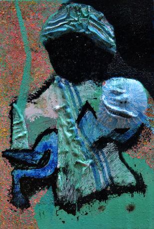 Do Good Anyway - 2 by Throngkiuba Yim, Conceptual Painting, Mixed Media on Canvas, Green color