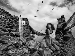 Desire by Abhijit Chakraborty, Image Photography, Digital Print on Paper, Gray color