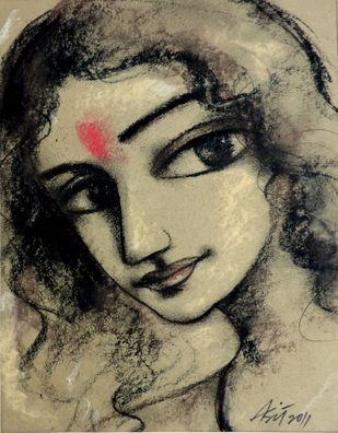 Radhika 2 Artwork By Asit Kumar Sarkar