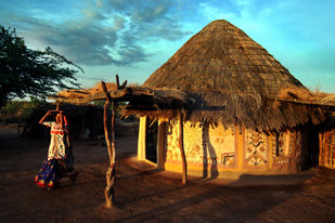 Beauty of Kutch by Manish Chauhan, Image Photography, Digital Print on Paper, Brown color