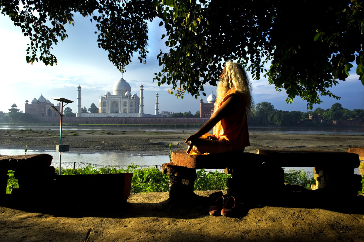 Taj Mahal by Manish Chauhan, Photography, Digital Print on Canvas, Green color