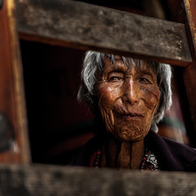 The Old Woman by Jayati Saha, Image Photography, Digital Print on Paper, Brown color