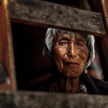 The Old Woman by Jayati Saha, Image Photography, Digital Print on Paper, Brown color