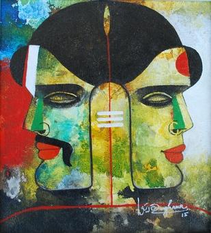 Untitled - Painting by Appam Raghav