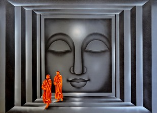 Divine Light - Painting by Pradeesh K